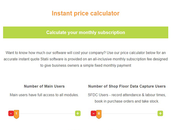 Price Quotation Calculator